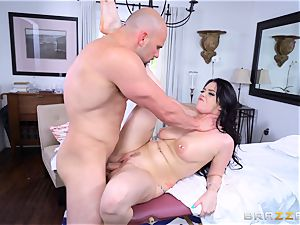 Smoking red-hot brown-haired Ryan grins oiled up and poked