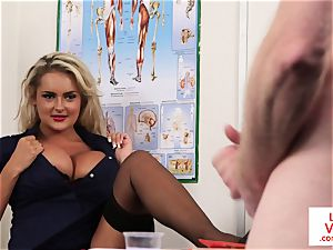 CFNM hidden cam nurse instructing jerkoff