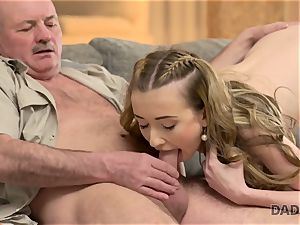 DADDY4K. hook-up of daddy and youthful chick completes with unexpected internal cumshot